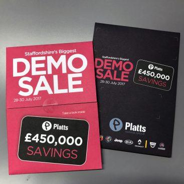 Platts Garages Demo Sale Event